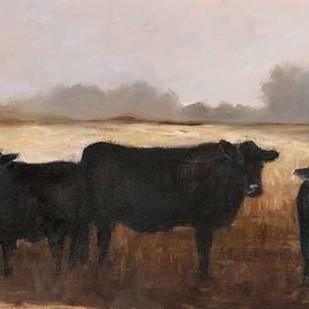 Black Cows I Digital Print by Harper, Ethan,Impressionism, Impressionism