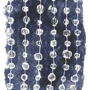 Indigo Batik Vignette I Digital Print by Vess, June Erica,Abstract, Decorative
