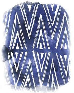 Indigo Batik Vignette II Digital Print by Vess, June Erica,Abstract