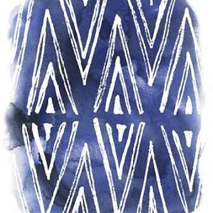 Indigo Batik Vignette II Digital Print by Vess, June Erica,Abstract