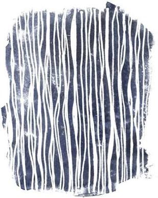 Indigo Batik Vignette III Digital Print by Vess, June Erica,Abstract