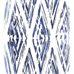 Indigo Batik Vignette VI Digital Print by Vess, June Erica,Abstract