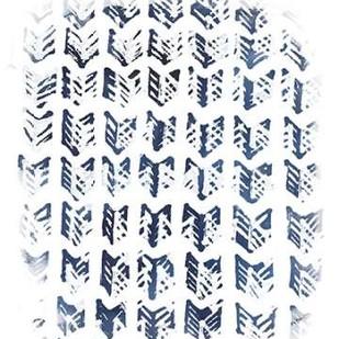 Indigo Batik Vignette VIII Digital Print by Vess, June Erica,Decorative