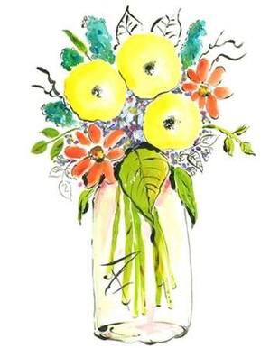 Flower Vase I Digital Print by Minasian, Julia,Decorative