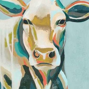 Colorful Cows III Digital Print by Popp, Grace,Decorative