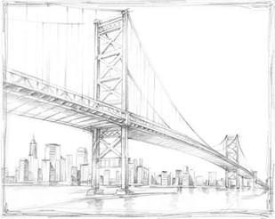 Suspension Bridge Study III Digital Print by Harper, Ethan,Illustration