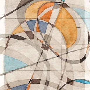 Ovals and Lines I Digital Print by Galapon, Nikki,Abstract