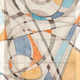 Ovals and Lines II Digital Print by Galapon, Nikki,Abstract