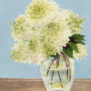 Hydrangea Vase II Digital Print by Miller, Dianne,Impressionism