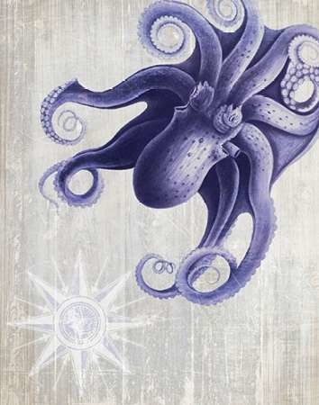 Octopus 7 Digital Print by Fab Funky,Decorative