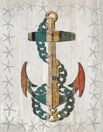 Distressed Wood Style Anchor 1 By Fab Funky