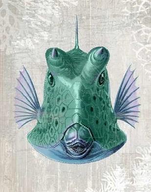 Cowfish Digital Print by Fab Funky,Realism