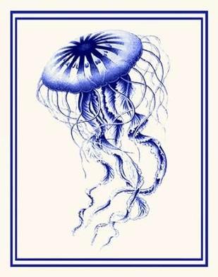 Mixed Nautical Blue on Cream c Digital Print by Fab Funky,Decorative