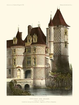 Petite French Chateaux X Digital Print by Petit, Victor,Realism