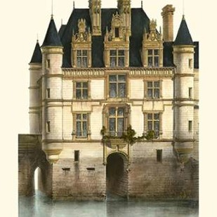 Petite French Chateaux XI Digital Print by Petit, Victor,Impressionism