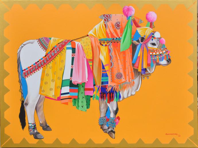 Gangireddu By Artist Mohammed Osman Decorative Pop Art