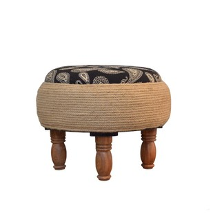 PAISLEY POWER OTTOMAN Furniture By Desi Jugaad