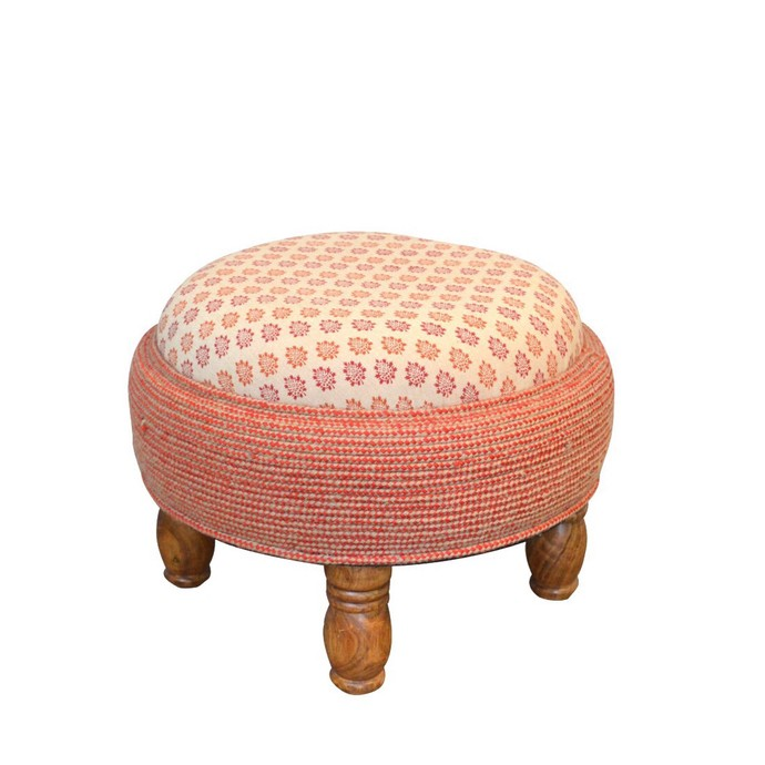 FLUSHED OTTOMAN Furniture By Desi Jugaad