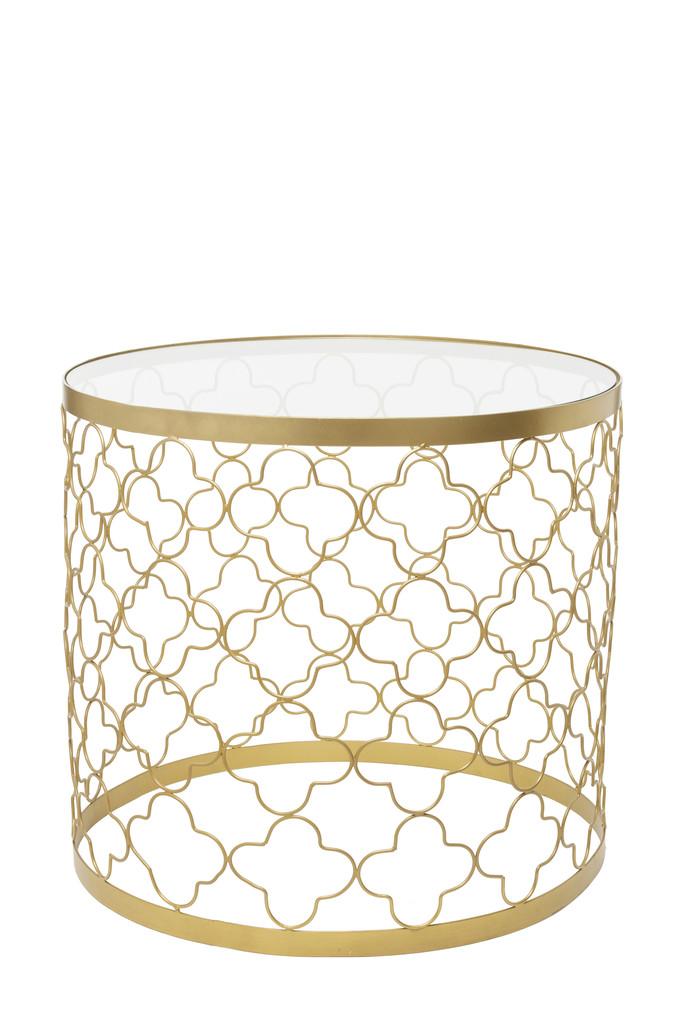 Circular Patterned Table (Glass Top) Furniture By CellarDoor