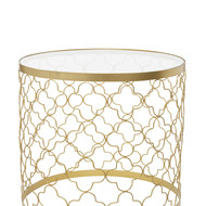 Pattern table with glass top %28round%29
