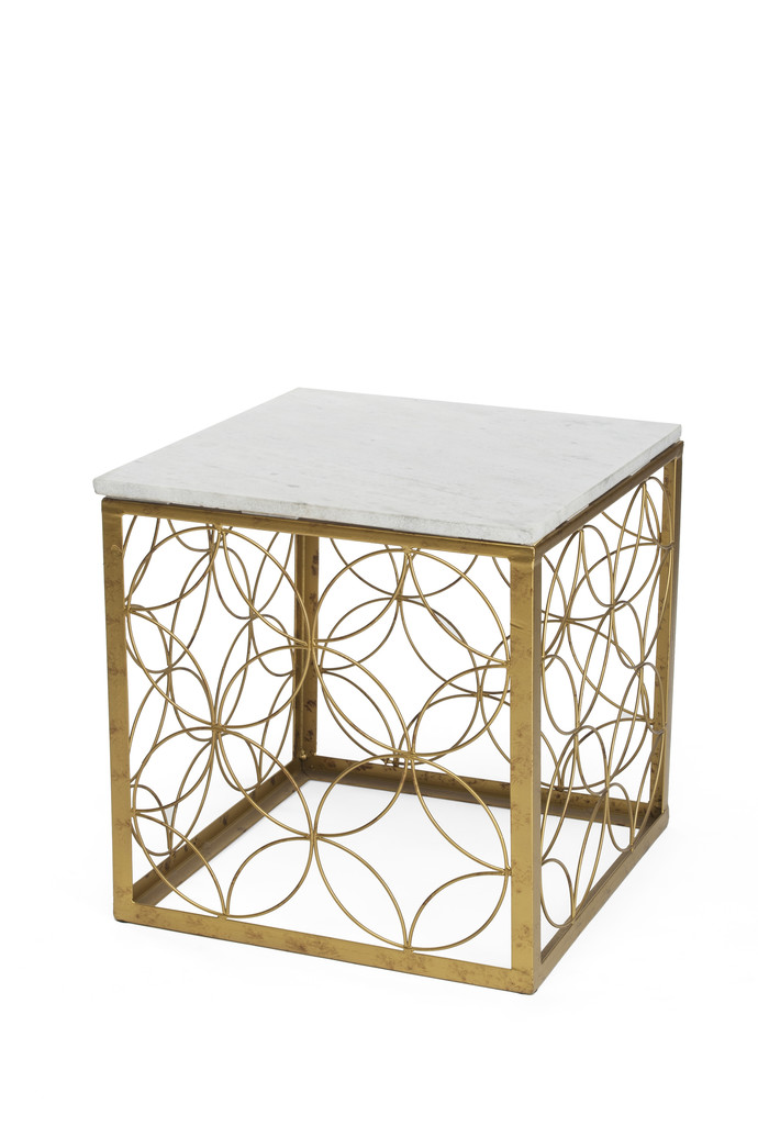 Square Patterned Table (Marble Top) Furniture By CellarDoor