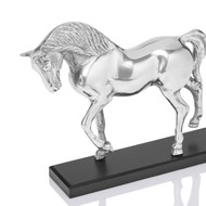 Horse on wooden base