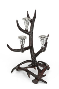 Three Light Horn Candle Stand Candle Stand By CellarDoor