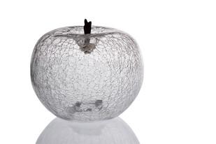 Hand Blown Art Glass Apple Clear (Large) Artifact By CellarDoor