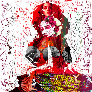 Love, Fashion and more - I by Sayak Mitra, Digital Digital Art, Digital Print on Archival Paper, Pink color