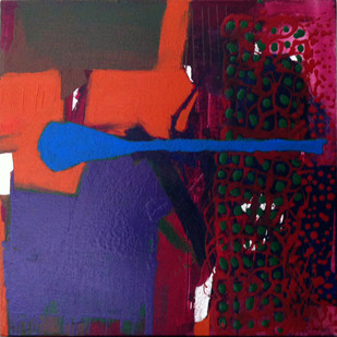Untitled by Ravikumar Kashi, Abstract Painting, Acrylic on Canvas, Blue color