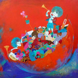 the treasure of childhood Digital Print by shiv kumar soni,Expressionism, Fantasy