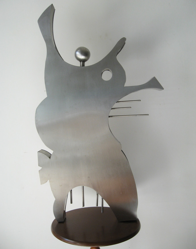 One Man Orchestra by Romicon Revola , Decorative Sculpture   3D, Stainless Steel, Gray color