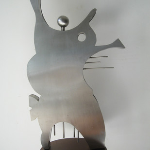 One Man Orchestra by Romicon Revola , Decorative Sculpture | 3D, Stainless Steel, Gray color