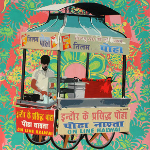 Untitled by Sohan Jakhar, Pop Art Painting, Acrylic on Canvas, Green color
