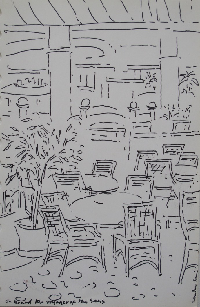 Untitled by John Tun Sein, Illustration Drawing, Ink on Paper, Gray color