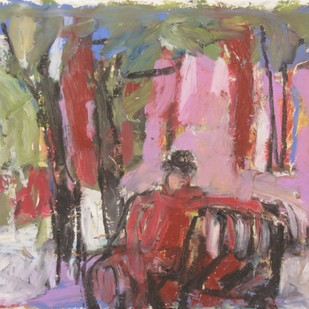Untitled by John Tun Sein, Impressionism Drawing, Oil Pastel on Paper, Brown color