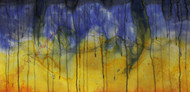 Under The Sky by Akashdeep, Abstract Painting, Watercolor on Paper, Blue color
