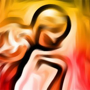 Focus by A S Pithadia, Digital Digital Art, Digital Print on Canvas, Brown color