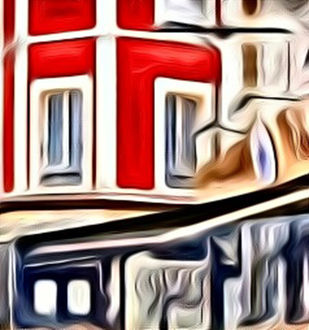 City Landscape by A S Pithadia, Digital Digital Art, Digital Print on Canvas, Brown color