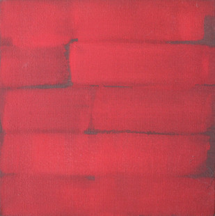 Untitled by V Viswanadhan, Abstract Painting, Acrylic on Canvas, Pink color