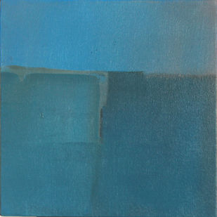 BLUE C2 by Deepak Madhukar Sonar, Abstract Painting, Acrylic on Canvas, Cyan color