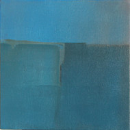 BLUE C2 by Deepak Madhukar Sonar, Abstract Painting, Acrylic on Canvas, Cyan color