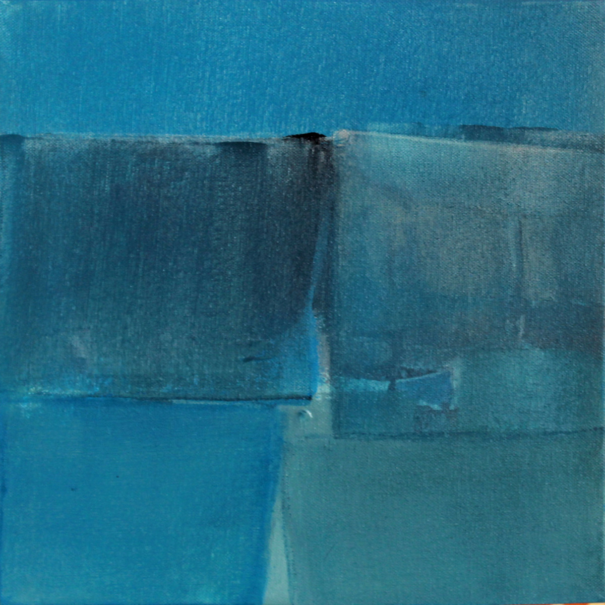 BLUE C3 by Deepak Madhukar Sonar, Abstract Painting, Acrylic on Canvas, Blue color