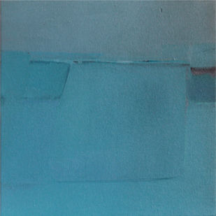 BLUE C5 by Deepak Madhukar Sonar, Abstract Painting, Acrylic on Canvas, Cyan color