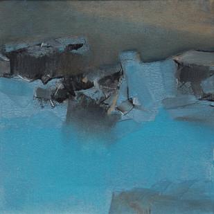 BLUE 53 by Deepak Madhukar Sonar, Impressionism Painting, Acrylic on Canvas, Green color