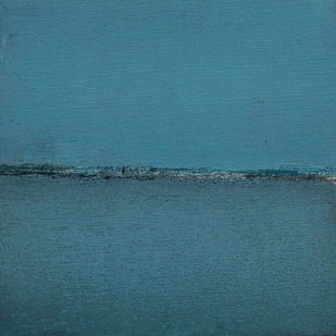 BLUE 66 by Deepak Madhukar Sonar, Impressionism Painting, Acrylic on Canvas, Cyan color