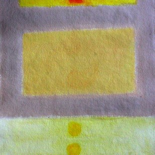 Yellow and Grey Digital Print by Bhaskar Hande,Abstract