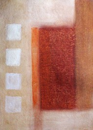 Bright Brown by Bhaskar Hande, Abstract Painting, Acrylic on Paper, Brown color