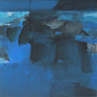 BLUE 5 by Deepak Madhukar Sonar, Abstract Painting, Acrylic on Canvas, Blue color