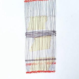 Drawing 6 by Sarita Chouhan, Illustration Drawing, Pen on Paper, White color